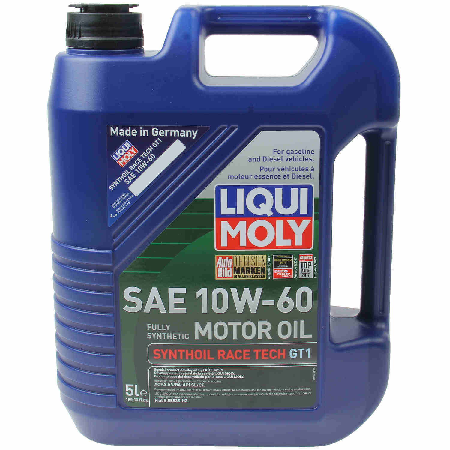 LIQUI MOLY 5L Synthoil Race Tech GT1 Motor Oil 10W-60