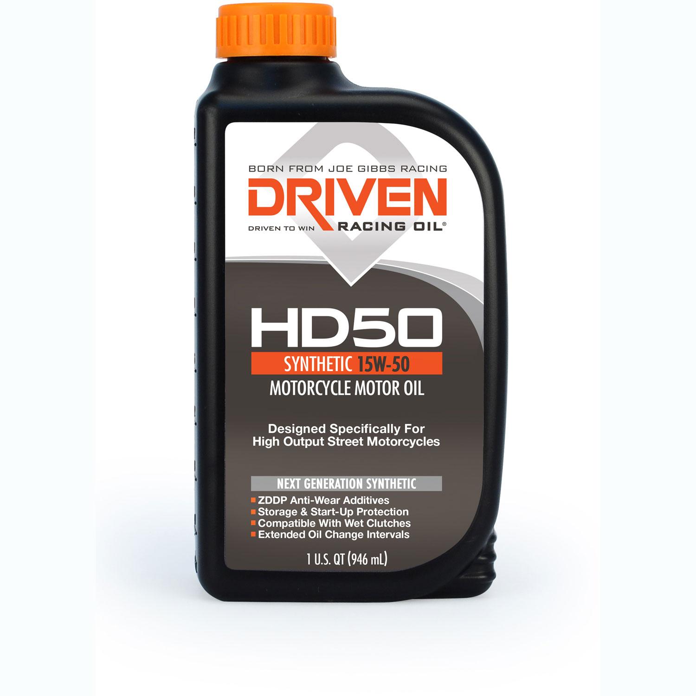 Driven Racing Oil HD50 High Zinc Motorcycle Oil - Quart (15w-50)