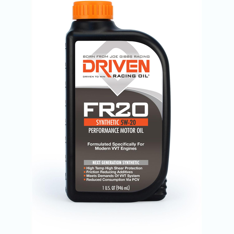 Driven Racing Oil FR20 - High Zinc Synthetic 5w-20 Quart